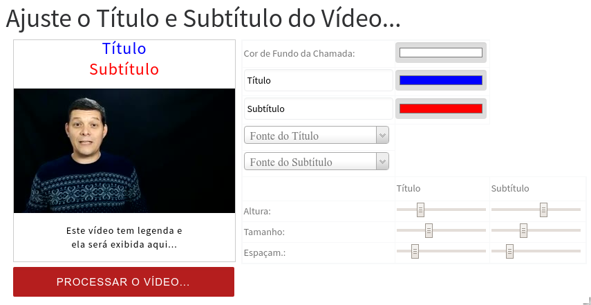 Configurar titulo para converter video nuggets do youtube